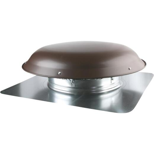 Ventamatic 1080 CFM Galvanized Steel Power Roof Mount Attic Vent Brown