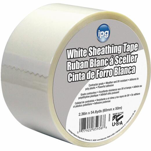 IPG 2-1/2 In. x 55 Yds. White Sheathing Tape