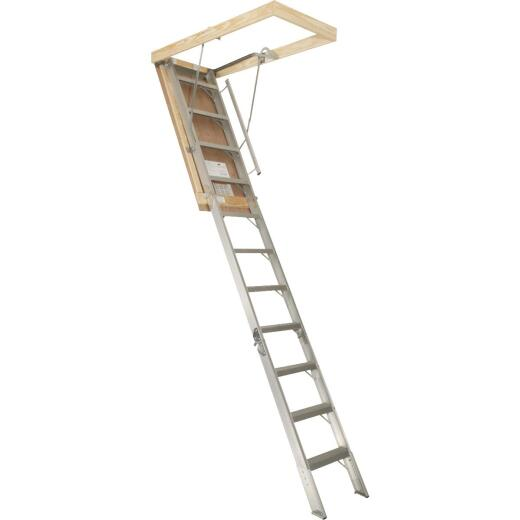 Louisville Elite 7 Ft. 8 In. to 10 Ft. 3 In. 22-1/2 In. x 54 In. Aluminum Attic Stairs, 375 Lb. Load