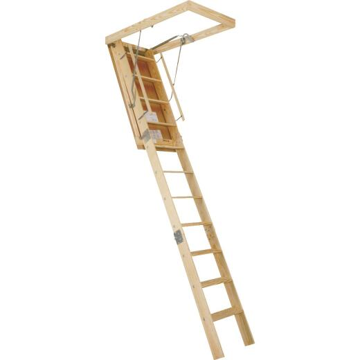 Louisville Big Boy 7 Ft. to 8 Ft. 9 In. 30 In. x 60 In. Wood Attic Stairs, 350 Lb. Load