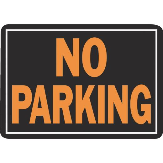 Hy-Ko Aluminum Sign, No Parking