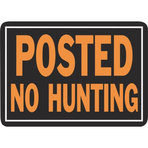 Hy-Ko Aluminum Sign, Posted No Hunting