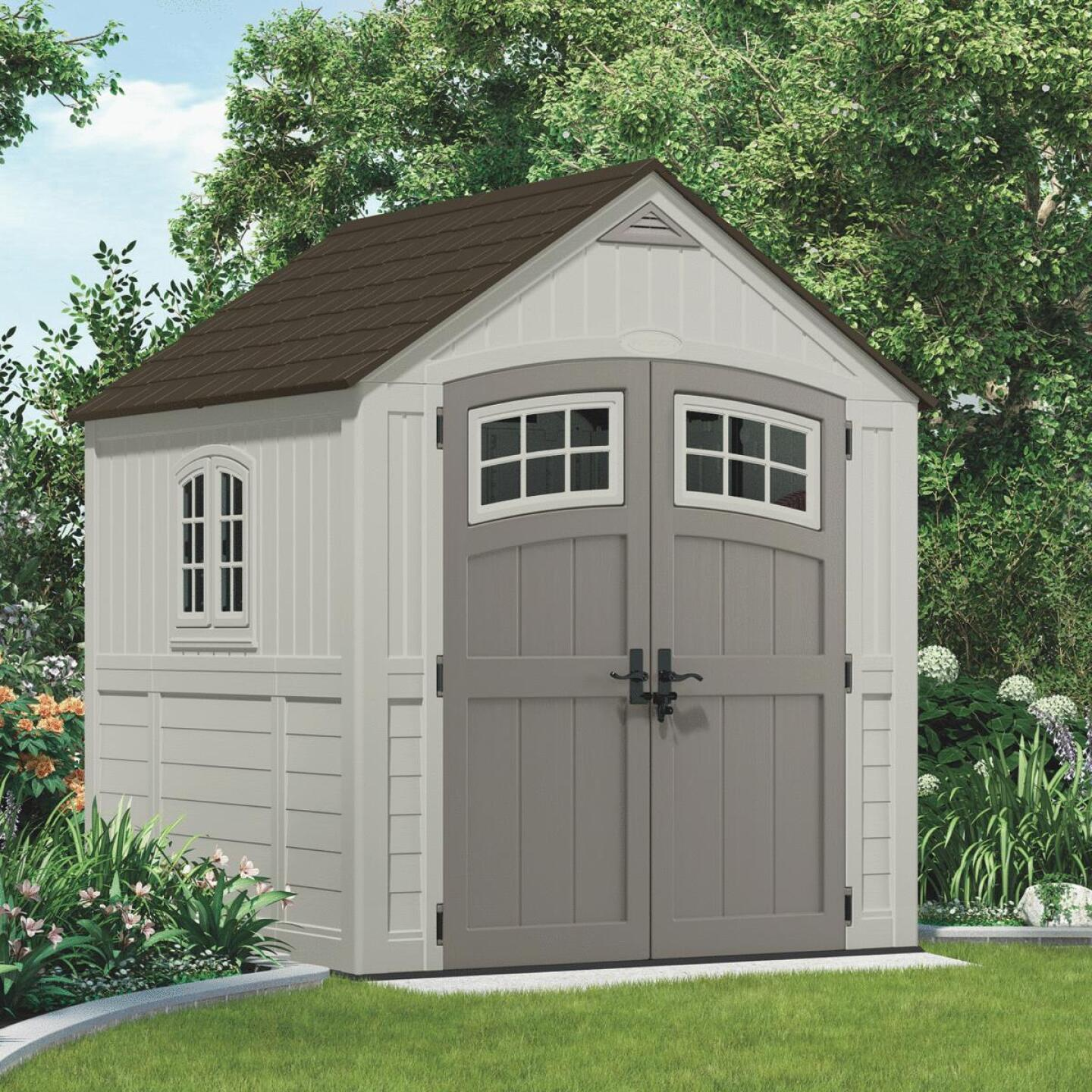 Suncast Cascade 322 Cu. Ft. Blow Molded Resin Storage Shed Image 1