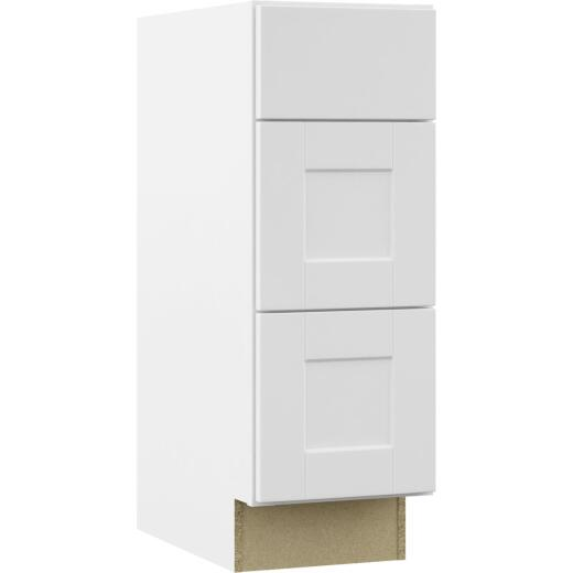 Continental Cabinets Andover Shaker 12 In. W x 34 In. H x 21 In. D White Drawer Vanity Base