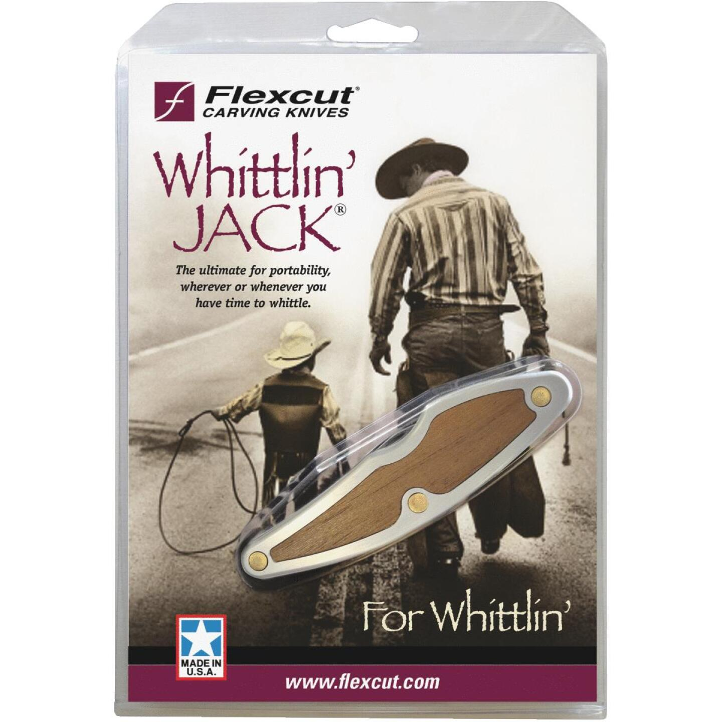 Flexcut Whittlin' Jack 2-Blade Carving Knife, 1-1/2 In. Detail & 2 In. Roughing Image 1