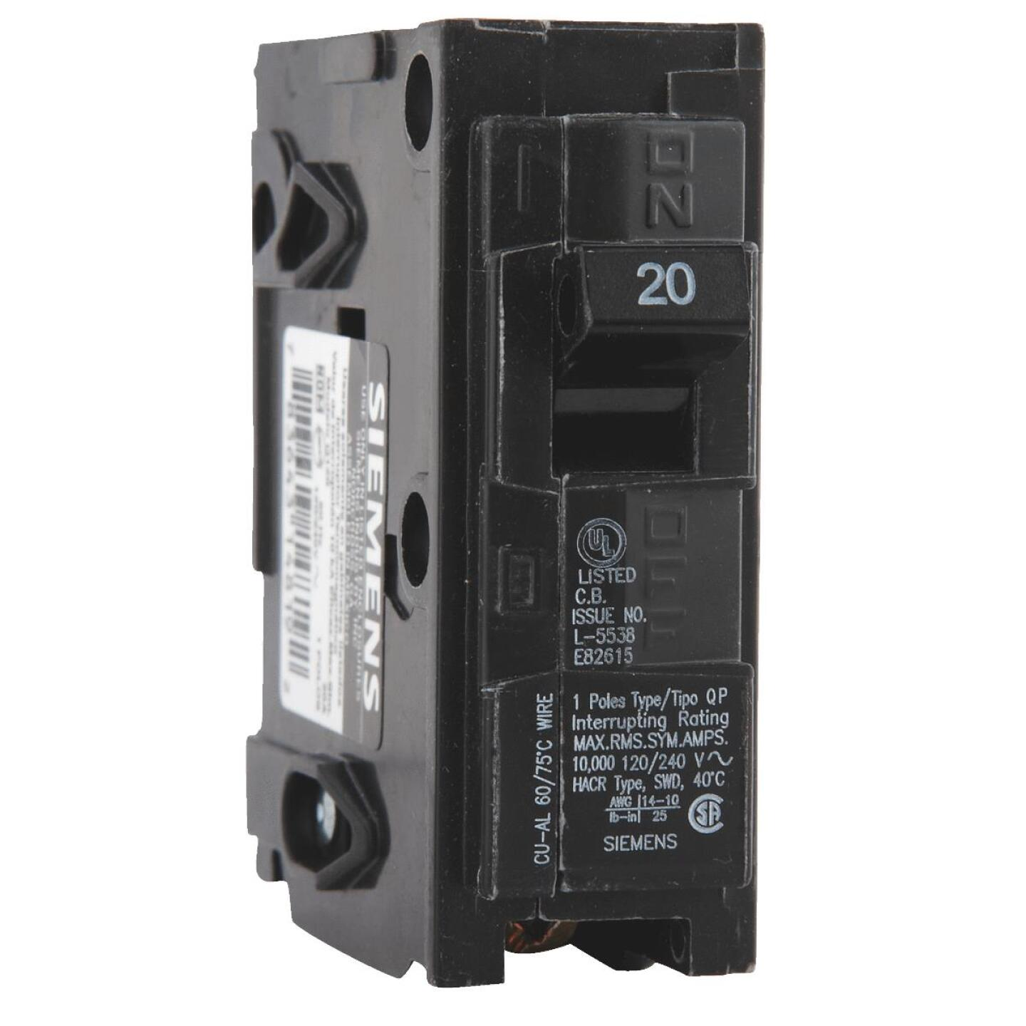 Connecticut Electric 20A Single-Pole Standard Trip Interchangeable Packaged Circuit Breaker Image 2