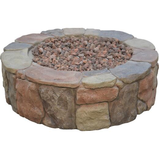 Bond Petra 36 In. Round Faux Stone Fire Pit